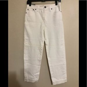 J crew white cropped jeans